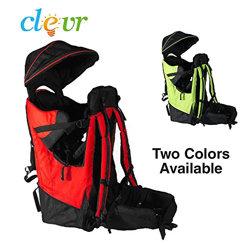 Cheap Deluxe Red Baby Toddler Backpack Cross Country Carrier Stand Child Kid Sun Shade