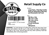 Clear Poly Bags with Suffocation Warning - Combo