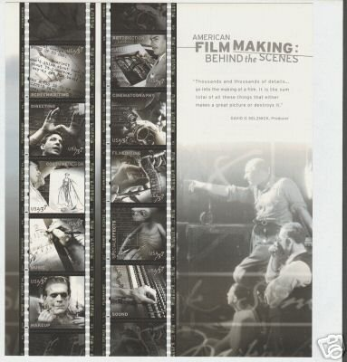 [American Film Making, Full Sheet of 10 x 37-Cent Postage Stamps, USA 2003, Scott 3772] (Postage Stamp Costume)