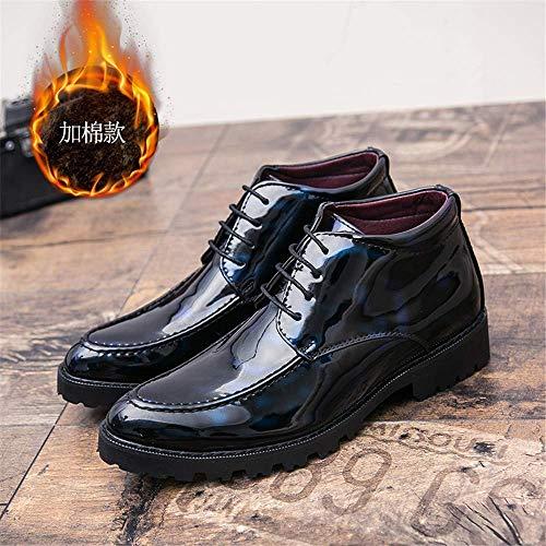 Avec Martin Hommes Pour Oxford Cuir Taille Warm En Des Eu Décontractées Verni Et couleur Habillées Blue 43 Bleu Bottes Chaussures Britannique Chaudes zcwqd8zp