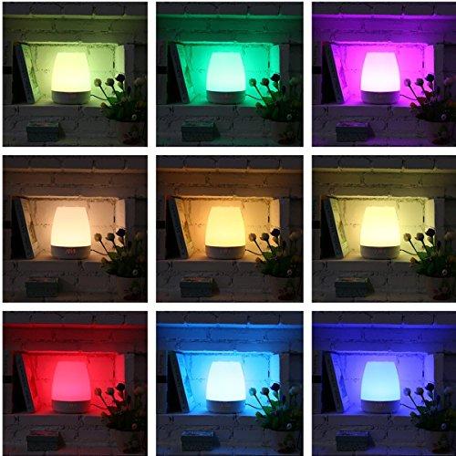 luz Despertador, glime Despertador lámpara sol aufgangs de simulación Wake Up Light Digital de Pantalla Tiempo/altavoz bluetooth/luz nocturna/alarma Multi ...