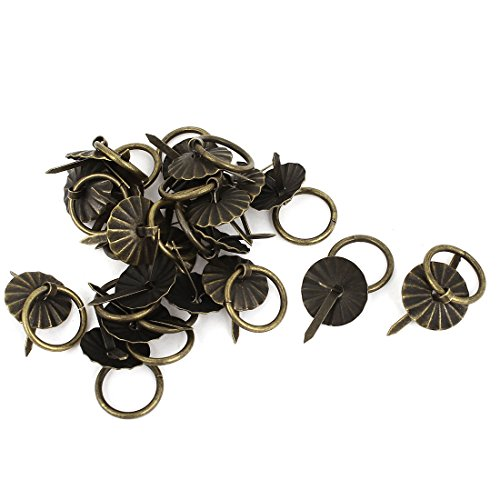Uxcell a14081900ux0687 Retro Style Small Door Pull Handle Ring 19 mm Diameter 20 Pcs Bronze Tone (Pack of (Diameter Ring Pull)