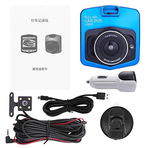 Rear View Camera Car,NAOTAI 2.4″ High Definition 1080P Dual Lens Rearview Car DVR Camera Video Recorder Dash Cam G-Sensor
