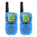 Walkie Talkies for Kids, 2 Pack FRS/GMRS Wireless Handheld Two-Way Radio Transceiver Toy Battery-operated Handset 22-Channels 3KM Call Range Distance with Flashlight for Outdoor Camping Adventure