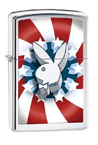(Zippo Personalized Message Engraved on Backside Playboy Bunny Zippo Indoor Outdoor Windproof Lighter)