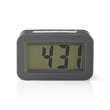 NEDIS CLDK003GY Reloj Despertador de Sobremesa Digital ...