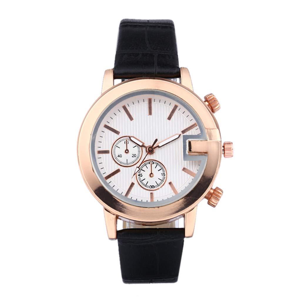 XBKPLO Quartz Watches for Women's Analog Wrist Watch PU Strap Wristwatch Temperament Accessories Souvenir Ladies Gift