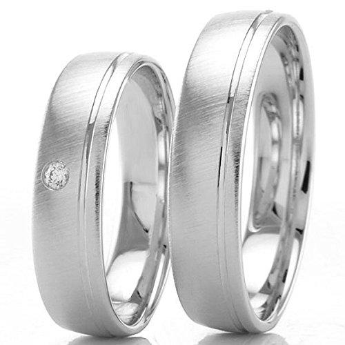 Anillos de boda par del oro blanco precio incluye inscripción gratis
