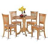 East West Furniture DLVA5-OAK-W 5-Piece Kitchen Nook Dining Table Set, Oak Finish Review