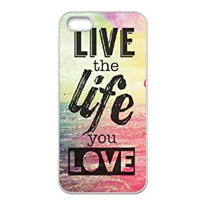 live the life you love Wholesale DIY Cell Phone Case Cover for iPhone 5,5S, live the life you love iPhone 5,5S Phone Case