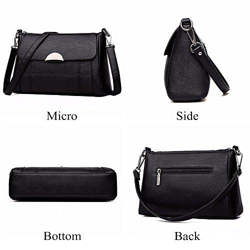 Women Shoulder Bag Women Alovhad Black Small Leather Satchel Crossbody Bag Handbag Purse Hobo dwxSxBCzq