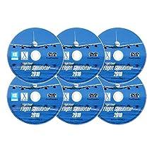 Flight Simulator 2019 X DELUXE Edition Flight Sim FlightGear 6 Disc DVD CD Set For Microsoft Windows 10 8 7 Vista PC & Mac OS X - 600+ Aircraft & FULL Worldwide Scenery!