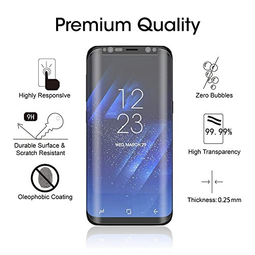 Loopilops Samsung Galaxy S8 Plus Screen Protector 3D Curved Tempered [Anti-Bubble][9H Hardness][HD Clear][Anti-Scratch][Case Friendly] Glass Screen Film for Samsung Galaxy S8 Plus by Loopilops (Image #2)