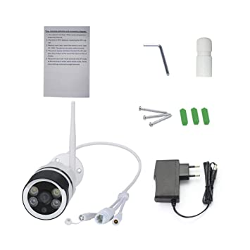 Cámara de seguridad inalámbrica Full HD 1080P WiFi al aire libre, carcasa de aluminio del metal, alarma ...