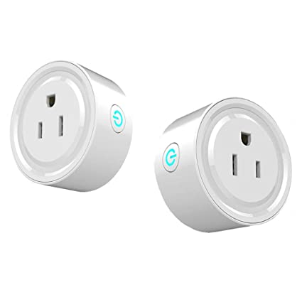 Wifi Smart Plug 2 Packs, Wifi Switch Compatible with Alexa Echo& Google  Home,Tuya Smart Plug Remote Control Smart Life Outlet for Smart Home Life,