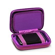 Navitech Purple Power Bank EVA Cover / Case / Travel Case For Quick Charge 3.0 Zendure A8 QC Portable External Battery Charger