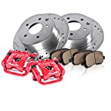 94 honda accord lx parts - FRONT Powder Coated Red [2] Calipers + [2] Rotors + Quiet Low Dust [4] Ceramic Pads Performance Kit
