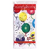 Hanna K. Signature Collection Healy's Balloons Plastic Rectangle Tablecover, 54 by 96-Inch, 1 Per Pack