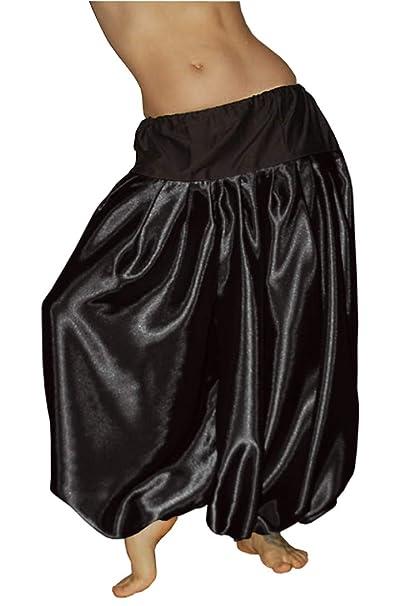 Amazon.com: Pantalón de yoga de satén para danza del vientre ...