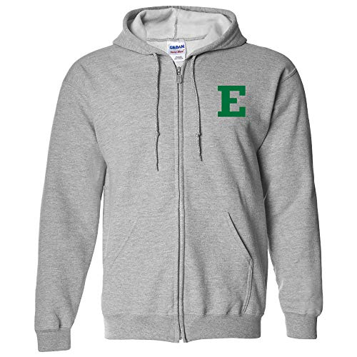 Michigan Football Eastern (AZ07 - Eastern Michigan Eagles Primary Logo LC Zip Hoodie - X-Large - Sport Grey)
