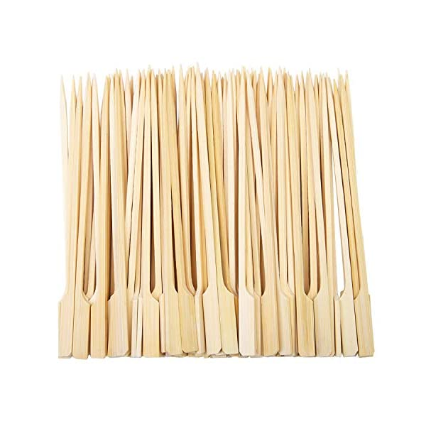 6 Inches Length 360 Pieces Bamboo Skewer Barbecue Bamboo Stick Natural Kabob Bamboo Skewer Sticks