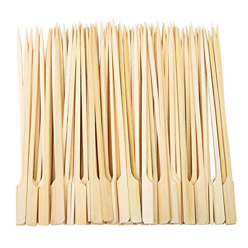 - Aneco 100 Pieces Bamboo Paddle Skewers Barbecue Bamboo Skewers Cocktail Sticks for Barbeque, Kebabs, Burgers, Cocktails, Buffets Party