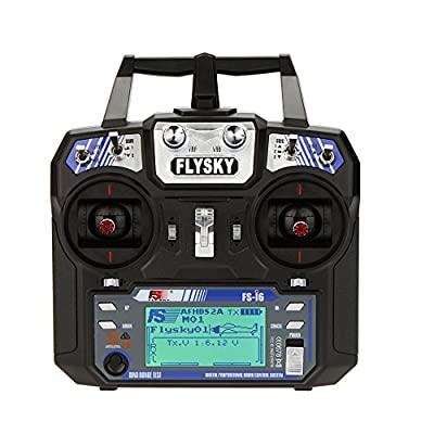 GoolRC Flysky FS-i6 AFHDS 2A 2.4GHz 6CH Radio System Transmitter for RC Helicopter Glider with FS-iA6 Receiver Mode 2: Toys & Games