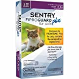 SENTRY Fiproguard Plus for Cats, Flea and Tick Prevention for Cats (1.5 Pounds and Over), Includes 3 Month Supply of Topical Flea Treatments