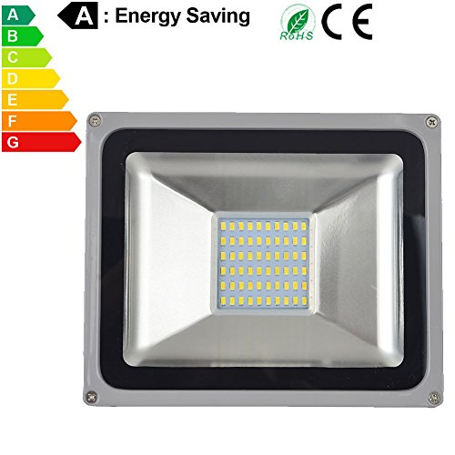 50W LED Flood Lights, Waterproof IP65 for outdoor, Daylight White, 6000K, 4900lm, 250W Halogen Equivalent, Security Lights, Floodlight (Cool White, 50W) BIMANGO - 250 Gym