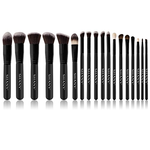 SHANY Artisan's Easel – Elite Cosmetics Brush Collection, Complete Kabuki Makeup Brush Set with Standing Convertible Brush Holder, 18 pcs
