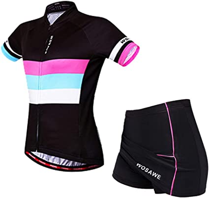 WOSAWE Ropa Deportiva de Ciclismo for Mujer, Transpirable Maillot ...