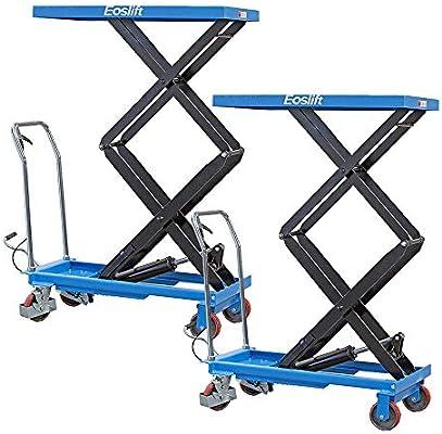 DAZONE - Tijeras hidráulicas manuales para elevar mesas, capacidad ...