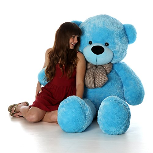 Giant Teddy 5 Foot Life Size Teddy Bear Huge Stuffed Animal Toy Huggable Cute Cuddles Bear (Sky Blue)