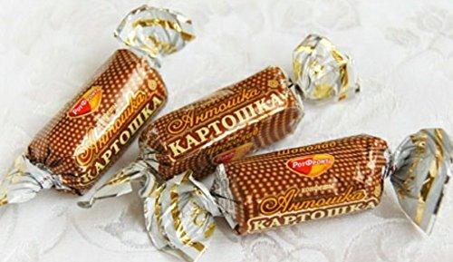 "New Candy Batonchik ""Antoshka-Kartoshka"" Chocolate Flavor & Chocolate Coated By Rot Front"