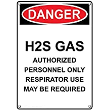 Weatherproof Plastic Vertical OSHA Danger H2S Gas Respirator Use May Be Required Sign with English Text