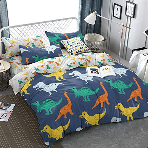 KFZ Dinosaurs Pattern Ultra Soft Twin Size Duvet Cover Set, 3pcs with 1 Piece 66