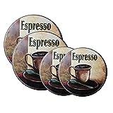 apple stove burner - Range Kleen 5068 4-Pack La Caffee Espresso Round Burner Kover Set, 8.5 Inches and 10.5 Inches