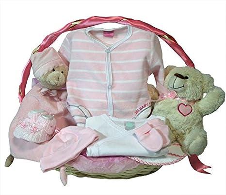 Canastilla regalo recien nacido - Esencial basica rosa - Cesta ...