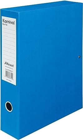 Rexel Eastlight Karnival - Cajas de archivo, 5 unidades, color azul: Amazon.es: Oficina y papelería