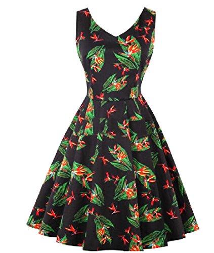 Dress Comfy Stretch Women Crewneck Retrol Black Skinny Fairy Holiday 0nSP0prf