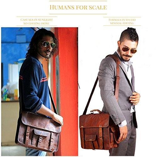 Handmadecart Leather Messenger Bag Men and Women