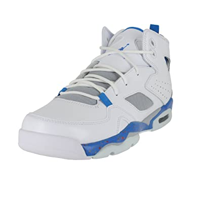 170b84ebed3f56 Jordan Kids Flight Club 91 (GS) White Blue Wolf Grey Orange Size 6