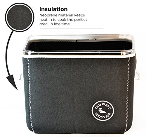 sous vide neoprene container sleeve for rubbermaid 12 quart by old