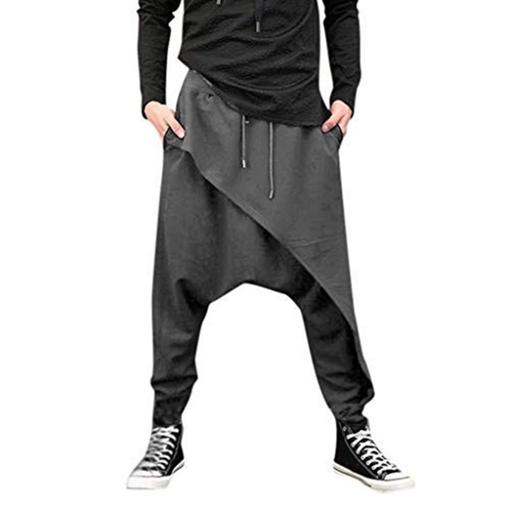 Dasongff Chinohose Herren Jogginghose Baggy Haremshose M/änner Pluderhose Jogger Hose Freizeithosen Sweatpants Trainingshose Hip Hop Rap Hipster Stil Straight Streetwear Feldhose