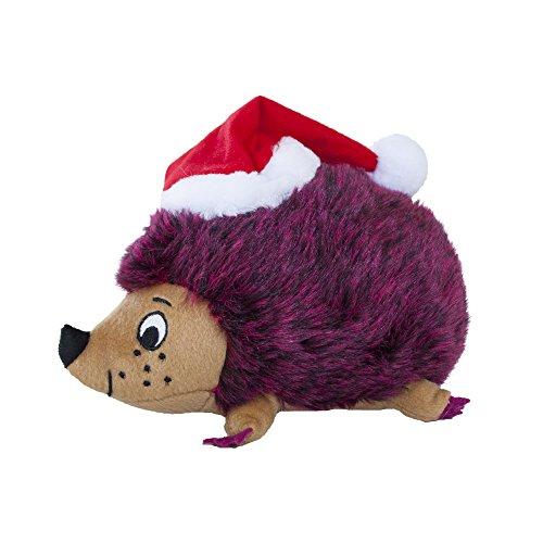 - Outward Hound Medium Red Holiday Hedgehogz Dog Toy