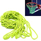 Glow in the Dark Basketball Net - Outdoor Net and Basketball Hoop Accessories, Standard Regulation Size for Outside Basketball Rims, Kids Backboard and Rim