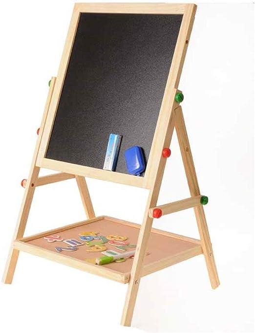 Pizarra Magica para Niños Tablero de mensajes Pizarra De madera de doble cara Tablero de elevación