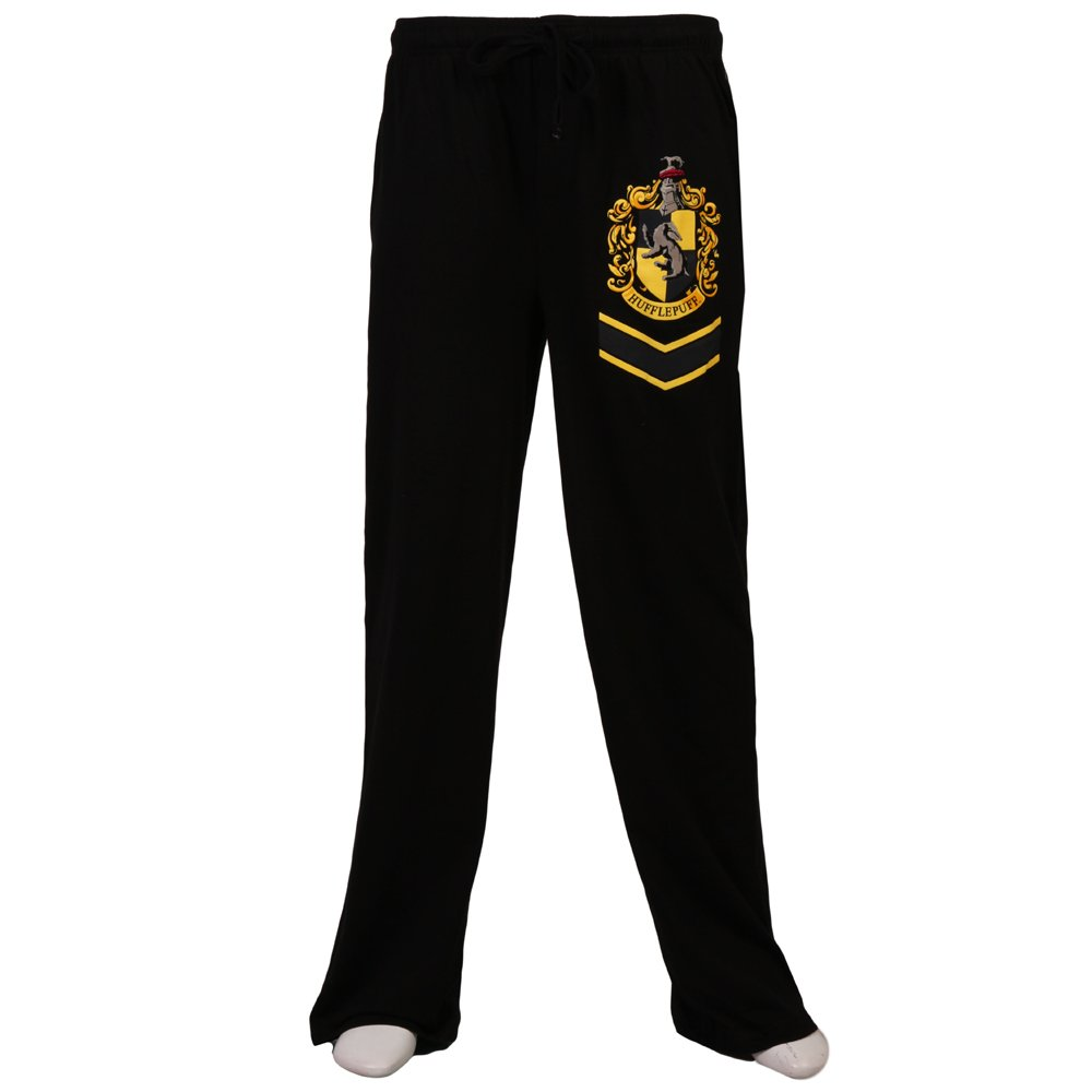 Harry Potter Hufflepuff Crest Lounge Pants Bioworld