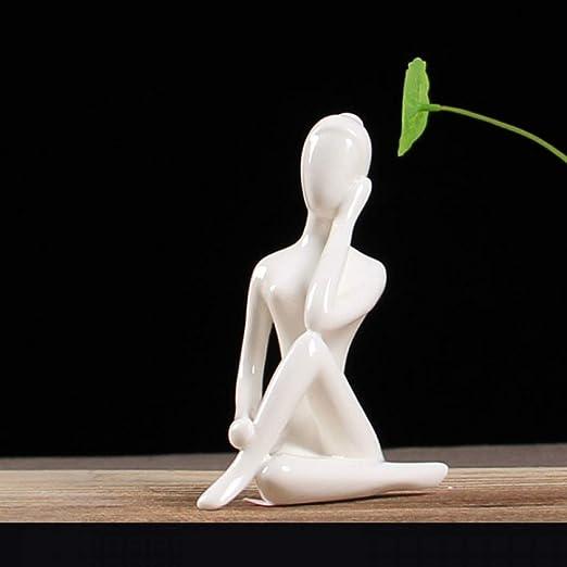 CUIAIDING Estatua Porcelana Cerámica Postura de Yoga ...