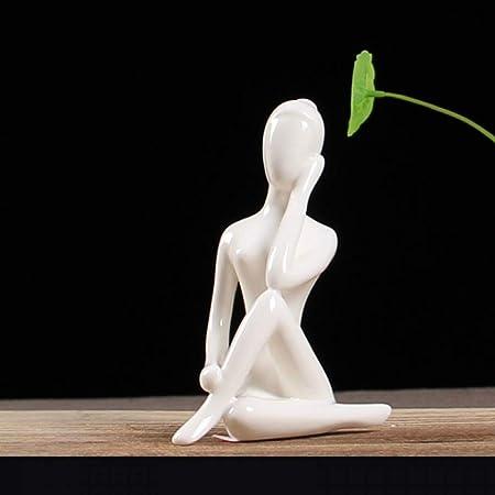 CUIAIDING Estatua de Posa de Figuras de Yoga de Cerámica de ...